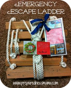 Webelos .... Craftsman and Readyman. DIY Fire Escape Ladder