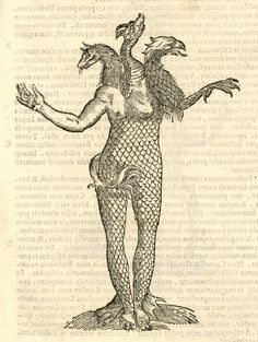 Monstrum triceps capite, woodcut illustration from Aldrovandi's History of Monsters