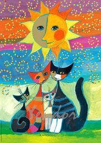"""Sun""  Absolutely loved putting together the jigsaw puzzle of this, my favorite Rosina cat painting!"