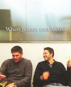 When Jensen Met Misha. And I love Jared Padalecki for giving us this shot.