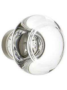 medium georgetown crystal cabinet knob with solid brass base house of antique hardware