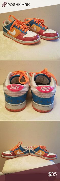 Women's Nike Dunk Low 6.0 Pre-loved, pictures show faults and marks pretty clear.  No box. Nike Shoes Sneakers