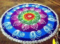 Easy Sanskar Bharti Rangoli Designs