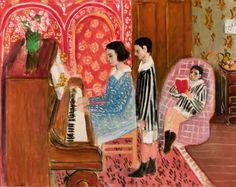 © Succession H. Matisse.  Henri Matisse (1869-1954), La leçon de piano,1923, Huile sur toile, 65 x 81 cm, Collection particulière.