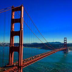 Blue skies above the Golden Gate Bridge. Photo courtesy of jnasa on Instagram.