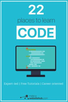 22 Places to Learn to Code for Free in 2020 - Make A Website Hub Fastforward your career with Code. Learn programming with expert-led resources and tutorials. Coding For Beginners, Blogging For Beginners, Learn Programming, Computer Programming, Programming Languages, Programming Humor, Python Programming, Computer Coding, Computer Science
