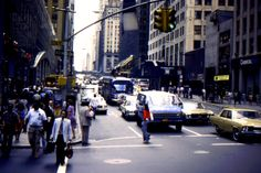 NYC September 1980. Busy 3rd Avenue junction NYC