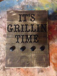 Grill utensil holder by WondersbyWood on Etsy https://www.etsy.com/listing/230916623/grill-utensil-holder