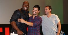 Taylor Lautner, Adam Sandler and Terry Crews in Brazil (CCXP 12.06.2015 - The Ridiculous 6)