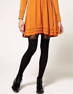 Image 1 ofGipsy Mock Ribbed Over the Knee Tights