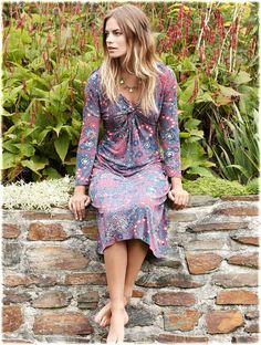 Twist Front Jersey Dress #fairtrade twist front, twist design, front jersey, clever twist, dresses, ethic cloth, necklaces, jersey dress, hammer heart