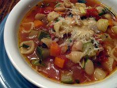 Tuscan Minestone Soup--lots of yummy, summer veggies!