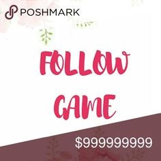 Please share this listing!!!!! Follow everyone!!!! 1. Like this listing  2. Share this listing  3. Follow everyone who liked this listing 4. Tag your posh friends   Happy Poshing 😊 follow game   Other