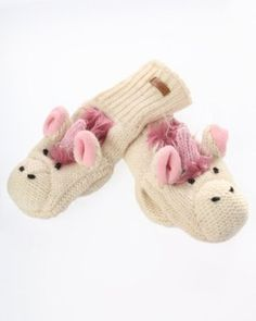 DeLux Unicorn White Wool Animal Mittens - Limited Edition DeLux. $25.99