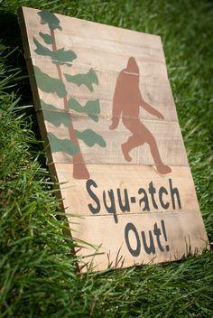 Sasquatch Handmade Pallet Art Wall Decor by NewBrewDesigns on Etsy, $20.00