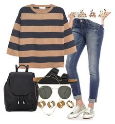 """""""Untitled #651"""" by arythebeeslayer on Polyvore featuring Almost Famous, MANGO, rag & bone, Birkenstock, H&M, Ray-Ban, Warehouse and Forever 21"""