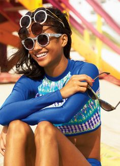 This one is even more perfect. Rash guard bikini