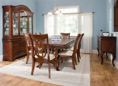 Formal dining room set with hutch