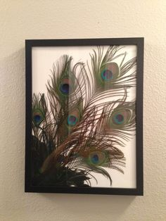 Photography of m & I holding peacock feathers in peacock colors, semi-sepia'd for a large photo in master bathroom. Peacock Colors, Peacock Art, Peacock Design, Peacock Feathers, Fabric Feathers, Cute Picture Frames, Picture Frame Crafts, Feather Wall Decor, Feather Art