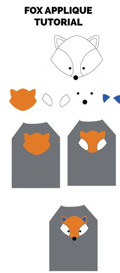 fox applique tutorial with free template!