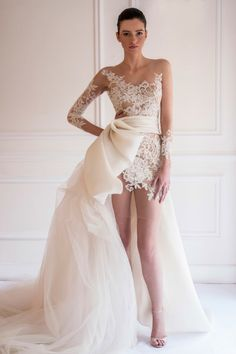 Love it!!! It's so different! 2014-2015 Maison Yeya Bridal Couture Collection   Bajan Wed