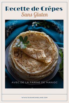 Saviez-vous que les propriétés de la farine de manioc sont très proches de la farine de froment, le gluten en moins ? Avec la farine de manioc, on obtient des crêpes légères et moelleuses, aussi savoureuses que des crêpes à la farine de froment. Essayez, vous m'en direz des nouvelles ! Healthy Foods, Healthy Recipes, Carpe Diem, Hummus, Rum, Mousse, Peanut Butter, Pancakes, Deserts