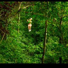 Ziplining. Falmouth, Jamaica.