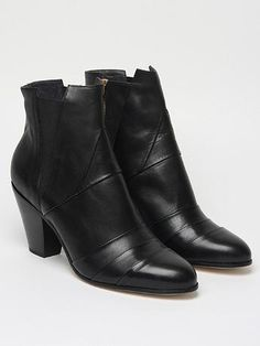 Gareth Pugh Men's Nappa Leather Cuban Heel Boot