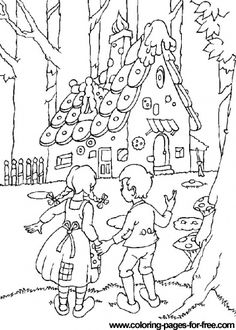 Download free printable Hansel and Gretel_2 coloring pages