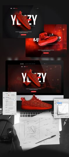 The recent launch of Kanye West's Yeezy collection with Adidas Originals has taken the fashion world by storm. I wanted to shake things up some more. I worked on the following concept which would introduce a brand new colour way for the Yeezy's - I call i…