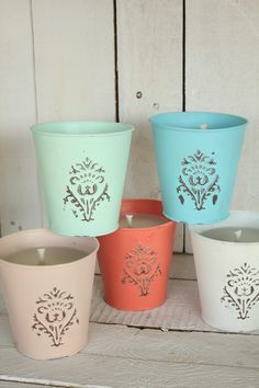 Hand painted citronella candles for your outdoor events
