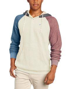 Billabong Mens Balance Fleece Pull Hoodie, Marine Heather, Medium