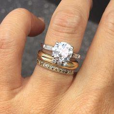 Wedding Ring Stack Inspiration Pinterest Image 7