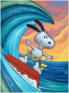 Snoopy the surfer hanging ten, with Woodstock Snoopy Cartoon, Snoopy Comics, Peanuts Cartoon, Peanuts Snoopy, Charlie Brown Y Snoopy, Charlie Brown Christmas, Christmas Christmas, Snoopy Images, Snoopy Pictures