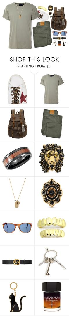 """Wolfie"" by sofemmeia on Polyvore featuring Golden Goose, Numero00, Augur, Tom Ford, Gucci, Versace, Persol, Givenchy, Thom Browne and Yves Saint Laurent"