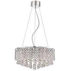 Possini Euro Criss Cross 22-Inch-W Clear Crystal Pendant - #EU4C828 - Euro Style Lighting