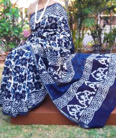 Elegant Chanderi Saree with Dabu Block Printing