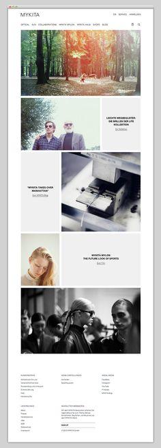Website design inspiration.