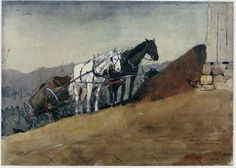 The Hilltop Barn, Houghton Farm, Winslow Homer