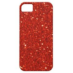 Red Faux Glitter Case-Mate iPhone 5 Case