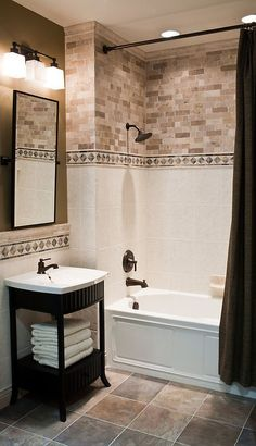 Bathroom Tile Ideas Photos wide plank tile for bathroom. great grey color! great option if
