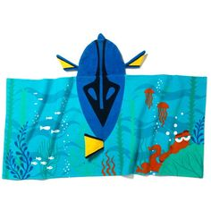 Get in character!Acute and fluffy hooded towel perfect for after baths, at the beach or at the pool.