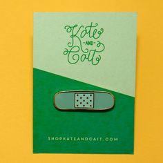 Bandage Hard enamel lapel pin by KateandCait on Etsy