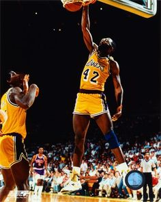 Lakers - James Worthy on break with Magic.  Those two could tear it up on a fastbreak