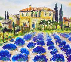 im Garten der Provence..... AQUARELL