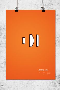 Minimalistic Pixar Movie Posters by Wonchan Lee: Finding Nemo