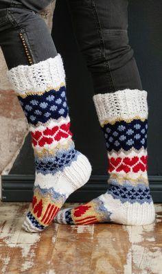 Fair Isle Knitting, Knitting Socks, Wool Socks, Leg Warmers, Textile Art, Handicraft, Mittens, Knit Crochet, Shoe Boots