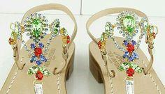 Mix colors for perfect outfit.  Craft sandals made shop at www.deasandals.com #craft #capri #sandals #sandaligioiello #capristyle #outfit #madeinitaly #handmade #tailormade #sandals #donna #fashion #scarpe #glamour #shoes #wedding #caprisandals #sandalicapresi #sandalidonna #sandalisumisura #blogger #style #magazine #modadonna