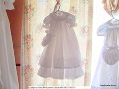 smocked victorian double layer gown 0427820744