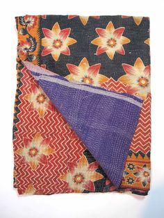 kantha stitching, antique quilt…